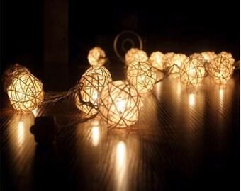 3 m Rattan Balls String Lights