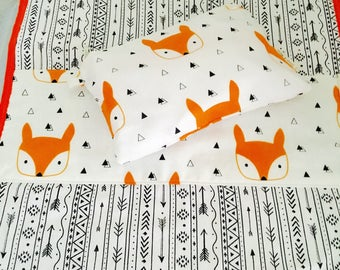 Changing mat and pouch fox Set, wet bags, wet bag, baby bag, changing mat, beach bag, wet bag set