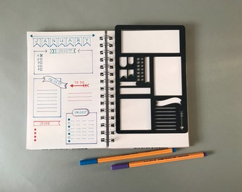 Script Alphabet Stencil, Bullet Journal Stencil, Planner Stencil,  Script Letter Stencil - fits A5 journal & Midori Regular