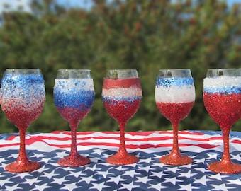Patriotic Wine Glasses