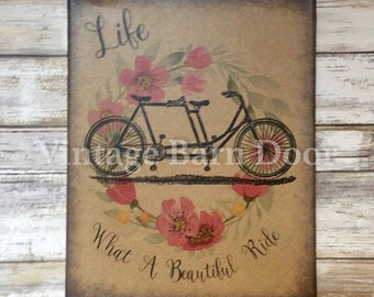 What A Beautiful Ride 8x10 Canvas