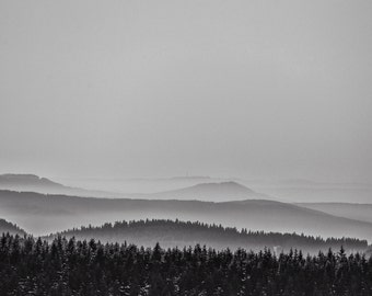 "FineArt print ""Misty Mountains"""