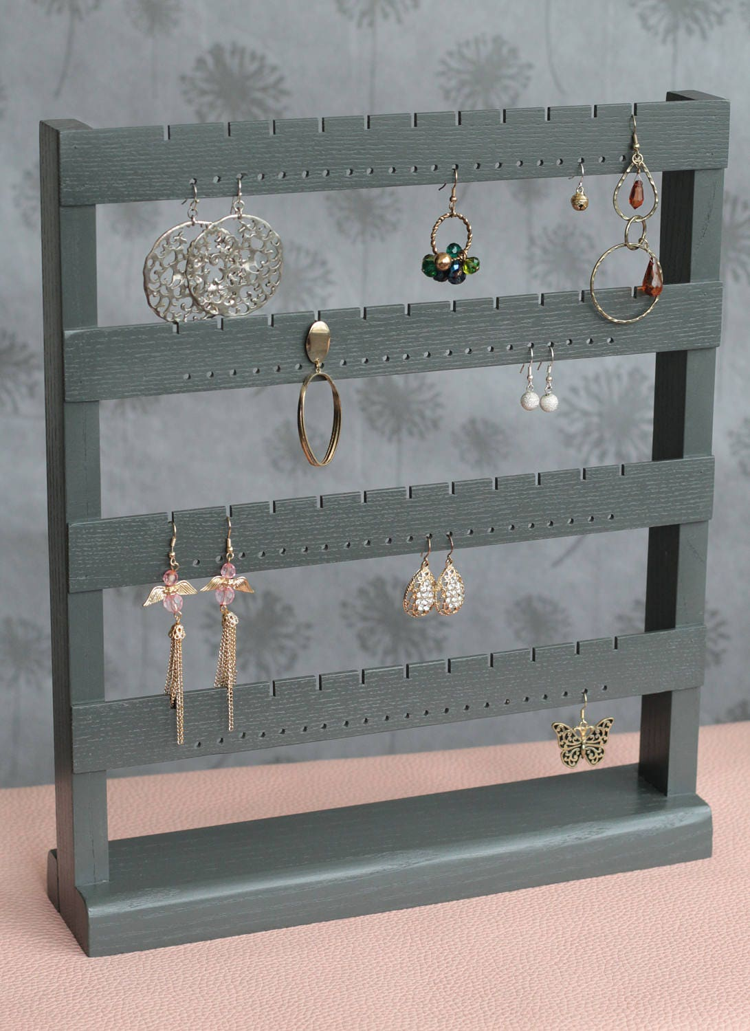 jewelry organizer earring stand earring storage earring. Black Bedroom Furniture Sets. Home Design Ideas