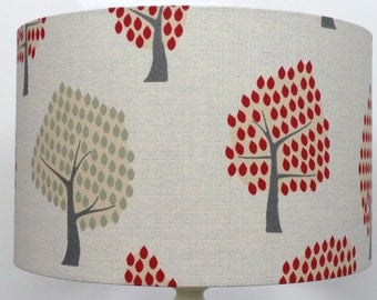 NEW Forest Woodland Scandi RED Tree Design, Ceiling Light /Table Lamp shade