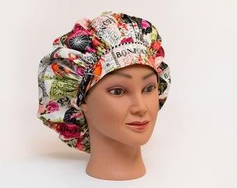 Springtime in Paris Bouffant Scrub Hat