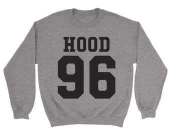 Hood 96 Sweatshirt - 5SOS Calum Top Sweatshirt Gift Top Slogan Fan Birthday Present Gift