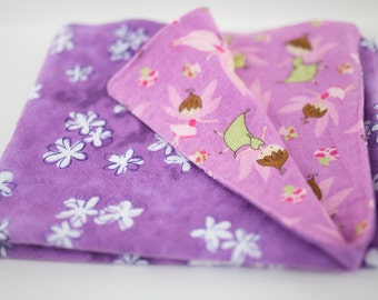 Security blanket for baby girl reversible flannel