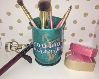 Mermaid Make up brush holder