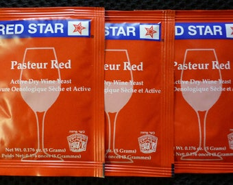 Red Star 'Pasteur Red' Wine Yeast - 3 Pack by FermentStuff