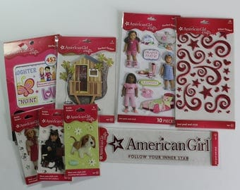 Huge lot of American Girl Crafts scrapbooking stickers  Kit, Samantha, Rebecca, Kaya, Addy, Felicity, Kristen, Josefina