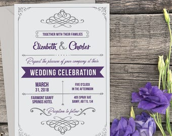 Printed Rustic Wedding Invitation, Rustic Wedding, Country Wedding, Printable Wedding, Printed Invitation, Wedding invitation