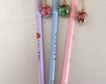 fruit pen with detachable charm