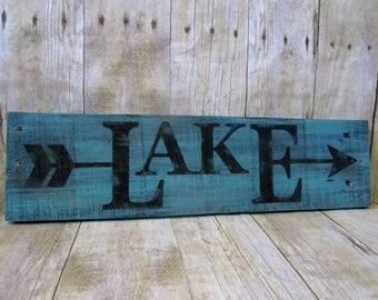 Lake House Sign - Lake Pallet Sign - Lake Signs - Lake House Decor - Lake House Wall Decor - Lakehouse Decor - Lake House Gifts - Lake Decor