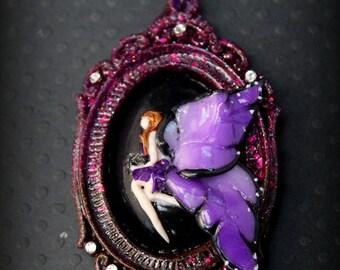 Fairy Tail, fairy wings necklace sautoir
