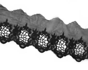 Lace tulle embroidery 'Gates' 10cm