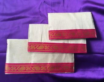 Silk money envelopes (Set of 3) [N0112]