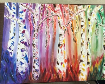 Colorful Tree Line