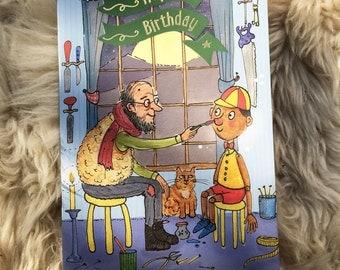 Pinocchio Birthday card