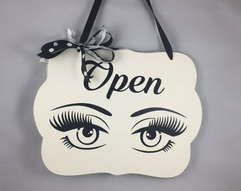Classy Lashes Open/In Session 2-Sided Sign