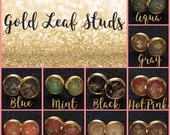 Gold Leaf Stud Sampler Pack