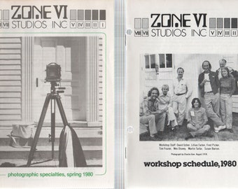 Zone VI Studios Inc 1980 WorkShops, Photographic Specialties and News Letter