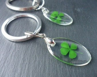 Trailer four-leaf clover, luck, lucky charms, gift, keychains, bag