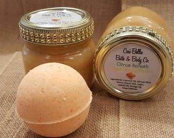 Citrus Splash ~ Salt and Sugar Body  Scrub