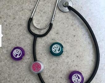 Monogrammed Stethoscope Clip