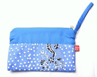Batik Banyuwangi Blue Pouch (White Dots)