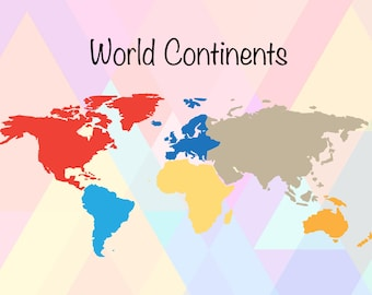 World Map Clipart | World Map SVG | World Map Shape | World Map Dxf | World Continents Svg | Continents File | World Map Eps | World Map Png
