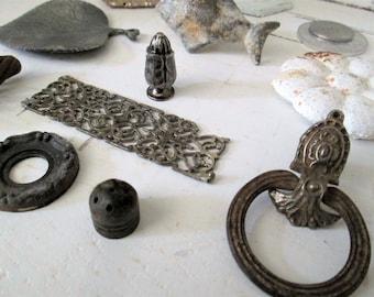 Fancy Salvaged Metal Collection, Assemblage Art, Altered Art, Sculpture Supplies