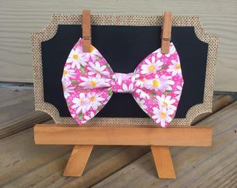 Pink Sunflower Bow