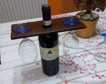Portabicchieri per bottiglia di vino o di birra  Cup holder for bottle of wine or beer Держатель для стаканов для бутылки вина или пиво