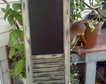 Chalk/Cork Board Shutter Display