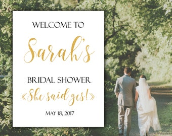 Welcome sign Welcome bridal shower sign Bridal shower sign Bridal shower printable Bridal shower decor Wedding sign Custom welcome sign