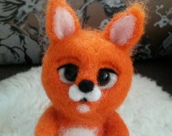 Needle felted squirel, felted from wool toy, wool squirel