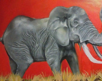 Elephant Painting ( Giclee Prints)