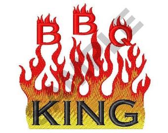 BBQ King - Machine Embroidery Design