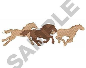 Running Mustangs - Machine Embroidery Design