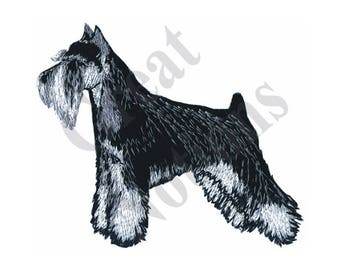 Miniature Schnauzer - Machine Embroidery Design