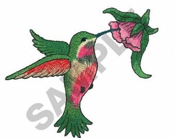 Hummingbird - Machine Embroidery Design