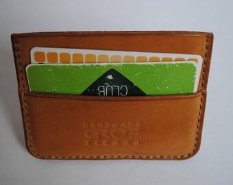 Leather card holder handmade