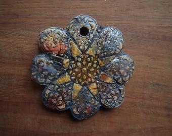 nice handcrafted ceramic pendant