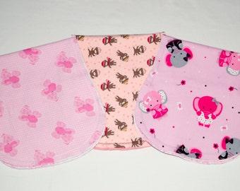 Burp Cloth set of 3 - Reversible