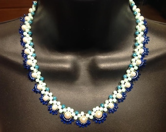 Beautiful necklace made with Czech  beads