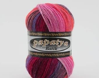 Batik Berry Mix Yarn (554-26   100g)