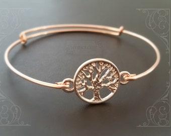 Family Tree Bracelet   Adjustable Bangle   Mother of the Bride Bracelet   Mom Bracelet   Gift for Grandma