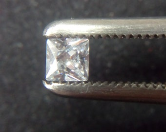 2mm x 2mm Square Princess Cut White Cubic Zirconia 5A Quality. Lot of 60 Stones
