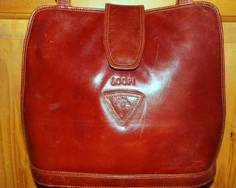 Joop! Vintage large rich reddy brown leather shoulder bag