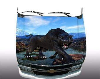 Mountain Panther Hood Wrap Wraps Sticker Vinyl Decal Graphic